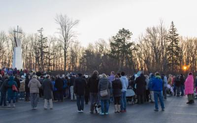 Celebrating Easter Mass at Sunrise